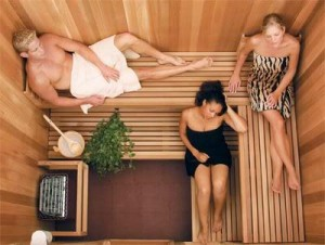 The quietness in sauna lets one focus the thought process and may help in calming the mind.
